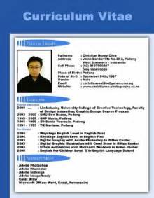 Curriculum Vitae Of by Adsense Tuba Contoh Cv Curriculum Vitae Terbaik Lengkap