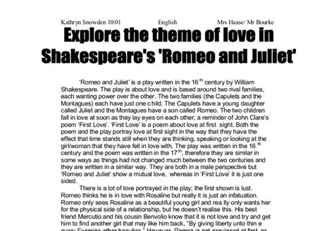 themes of romeo and juliet gcse theme of love in romeo and juliet gcse explore the theme