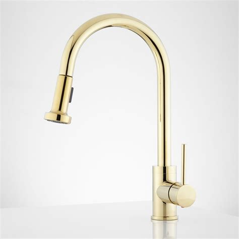 brass faucet kitchen sink faucet design bainbridge modern brass kitchen faucets single pulldown golden glossy