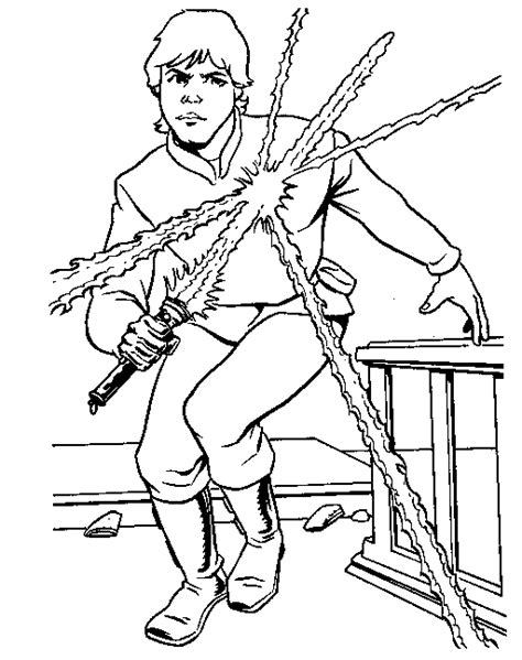 coloring pages wars luke skywalker luke skywalker coloring page