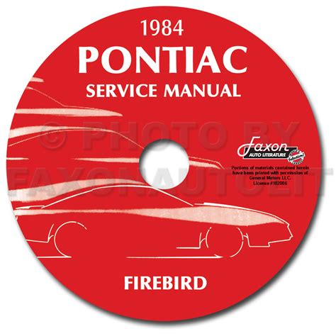 service manual repair voice data communications 1982 pontiac grand prix instrument cluster 1984 pontiac firebird trans am repair shop manual original