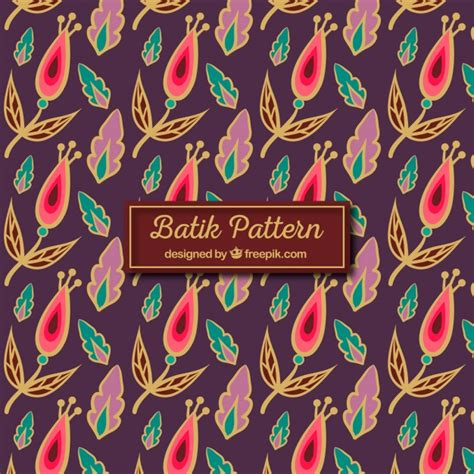 batik pattern illustrator free vintage batik pattern of flowers and leaves vector free