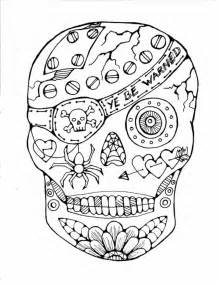 colouring pages printable halloween coloring pages adults sugar skull dead skull