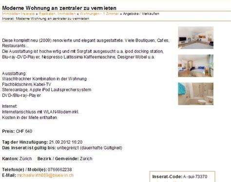 Wohnung Zu Vermieten Immobilien by Wohnungsbetrug 23 September 2012