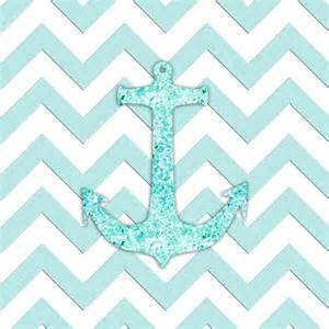Me glitter nautical anchor teal blue chevron pattern canvas print
