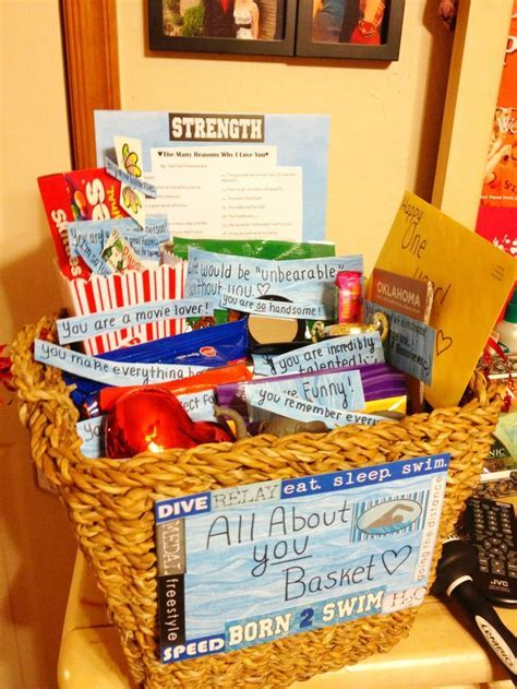 All about you basket for an anniversary. :) Very sweet and