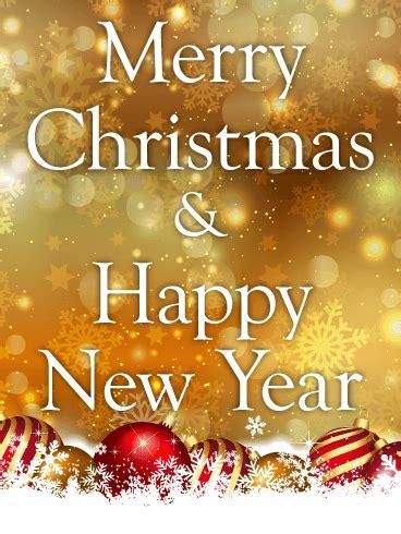 golden glitter christmas card birthday greeting cards  davia