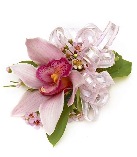 Carithers by Pink Cymbidium Orchid Wrist Corsage Carithers Flowers