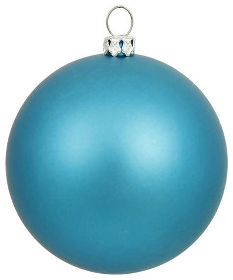 vickerman 10 inch turquoise matte ball ornament