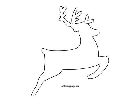 reindeer template flying reindeer template coloring page