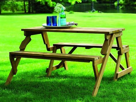 bench becomes picnic table picnic table and bench