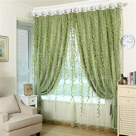 Green Sheer Curtains 1pcs Green Sheer Curtain For Living Room Window Blackout Curtains Home Decor Draperies Drapes