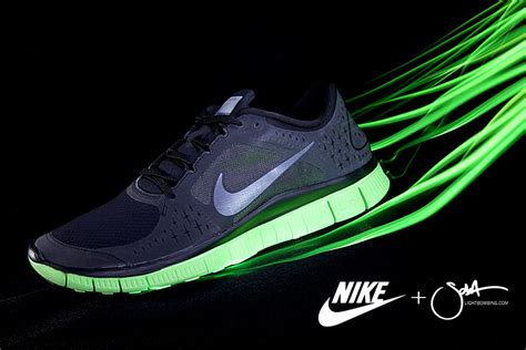 Nike Light Shoes by Light Graffiti And Light Painting By Artist Sola Nike