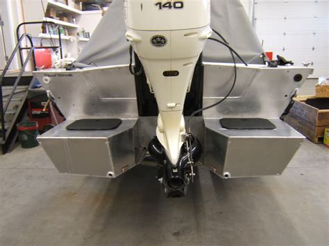 aluminum jon boat pods floatation pods help 19 foot boat draft less the