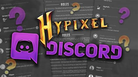 discord hypixel join my discord server unofficial hypixel discord youtube