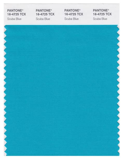 pantone smart   tcx color swatch card scuba blue