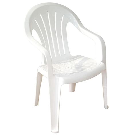 white resin patio chairs shop mfg corp white resin stackable patio dining