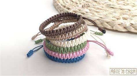 como hacer pulseras de macrame nudo plano pulseras de la amistad f 225 ciles de hacer con nudo plano