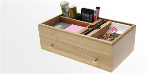 Office Desk Tidy Desk Stationery Box Bamboo Desk Tidy Office Supplies