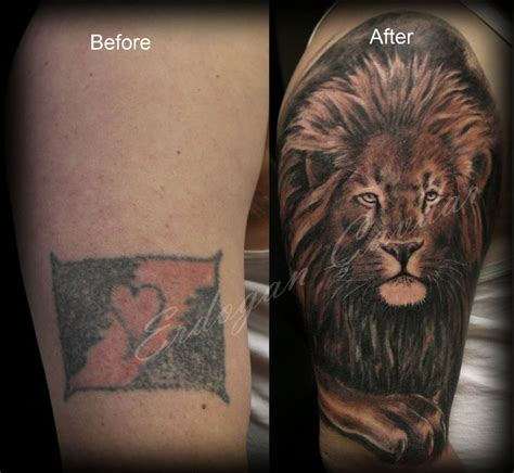 lion cover up tattoo 28 cover up large image leave comment