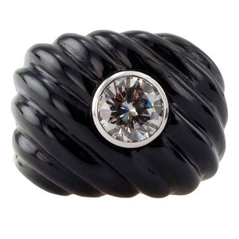 Black Jade Carved carved black jade and gold ring for sale at 1stdibs