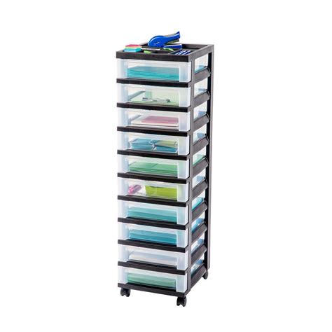rack 5 drawer clear plastic storage tower with