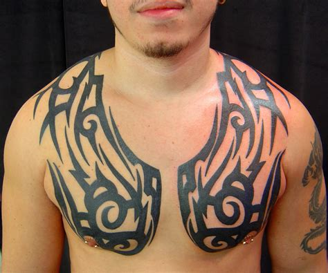 tribal chest piece tattoos looking for unique tattoos tribal chest