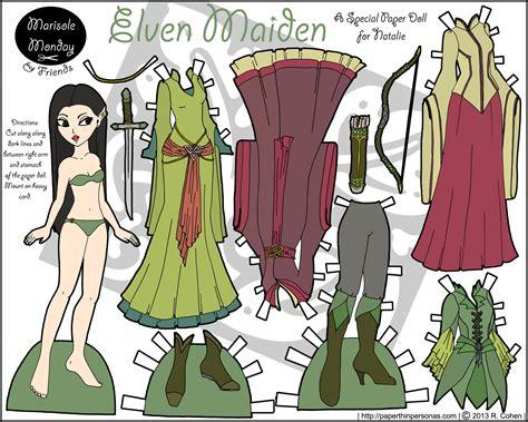 printable elf paper dolls marisole monday friends marisole as an elven maiden