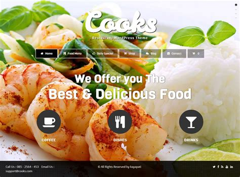 themes wordpress free food 5 best responsive wordpress food themes and templates in