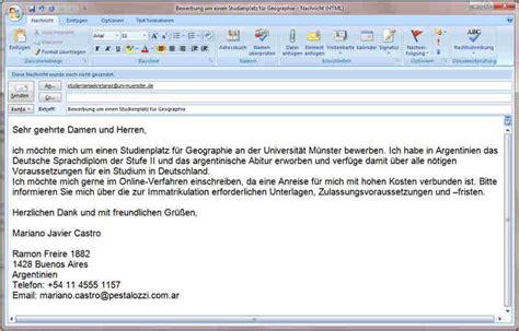 Anschreiben Bewerbung Uni 8 Bewerbung Email Anschreiben Deckblatt Bewerbung