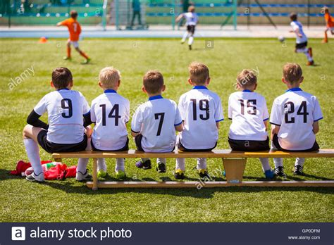 how many players on the bench in soccer football soccer match for children kids waiting on a
