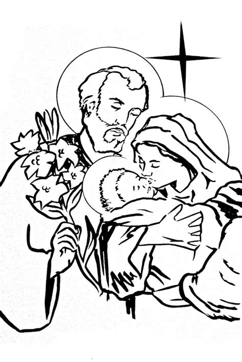 holy family coloring pages coloring pages