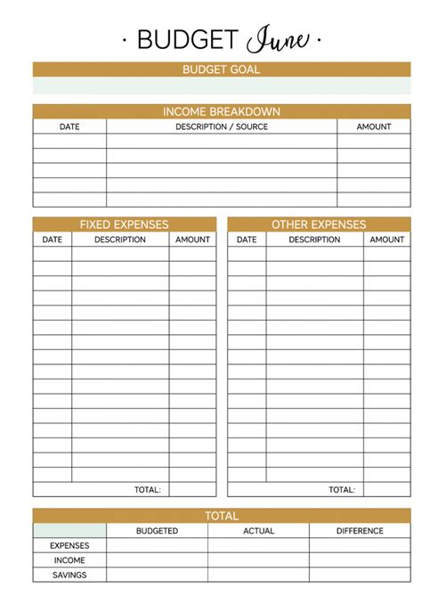 Planner Addiction The Addiction Planner 25 Printable Planner Pages June 2016 Business Pages Budget Template