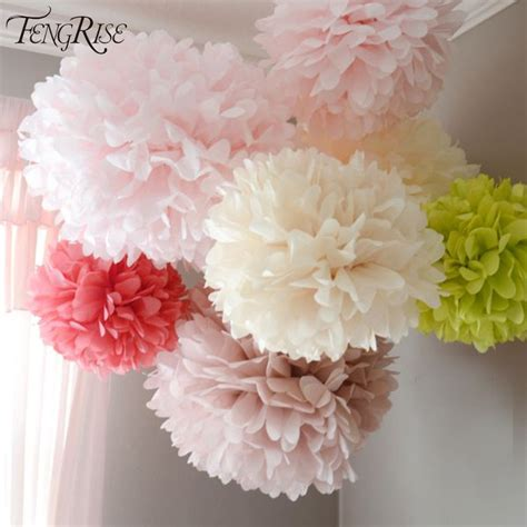 How To Make Pom Pom Balls With Tissue Paper - fengrise wedding decoration events 5 pcs 20 25 30 cm pom
