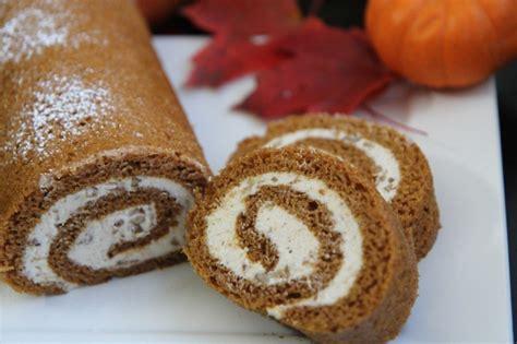 easy pumpkin cake roll recipe w cinnamon pecan cream