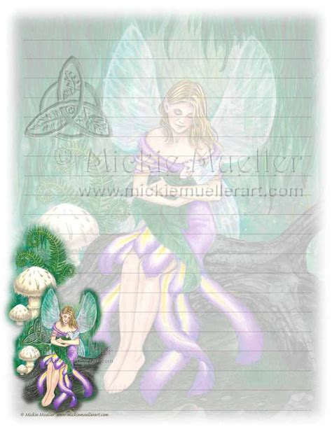 printable fairy stationary mother and child fairy printable stationary