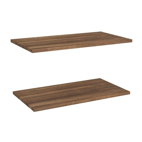closetmaid wood shelf closetmaid impressions 24 in w walnut laminate extra