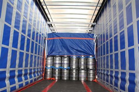load security on curtain sided lorries hss roof suspended load restraint system released