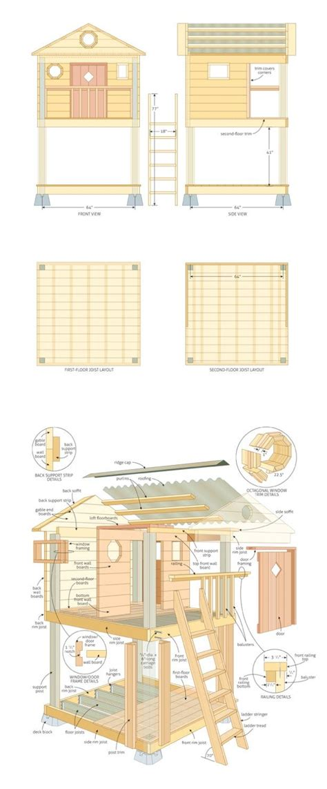 free diy cubby house plans plan to build cubby house superb diy pirate ship the