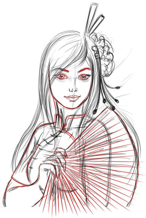 sketch to vector tutorial how to create a vector girl using adobe illustrator or