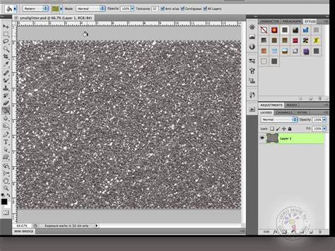 how to create pattern in photoshop video make glitter in photoshop and save it as a layer style