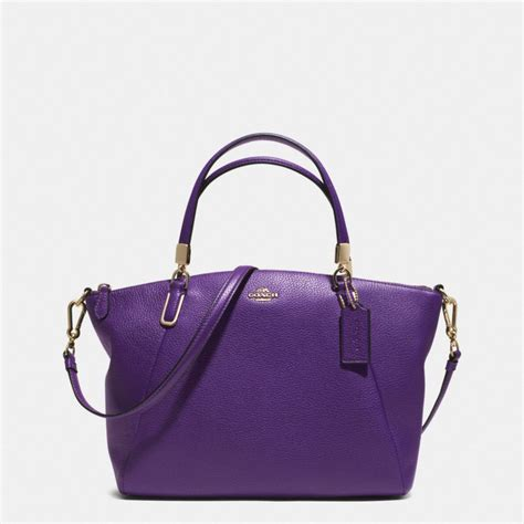 Coach Kelsey Small Patcwork coach small kelsey crossbody in pebble leather in purple
