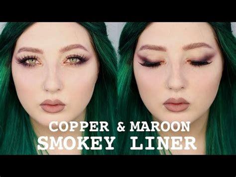 Jordana Eye Makeup Remover copper and maroon smokey liner eye makeup hanz