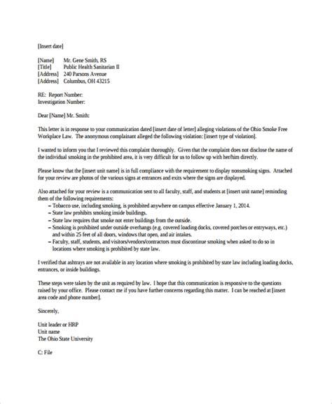 sample letter responding to false allegations 9 response letters sample templates 153   Response Letter to an Allegation of Violation
