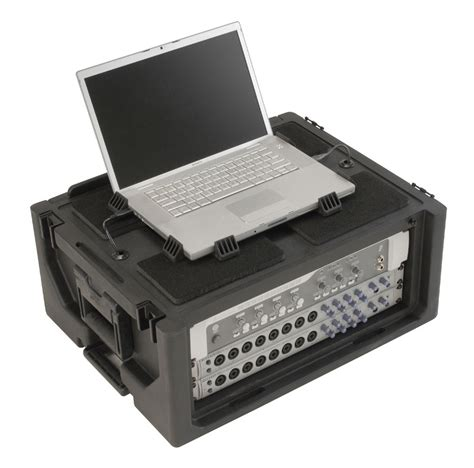 Laptop Rack by Skb 1skb19 Rsf4u 4u Studio Flyer Portable Rack Laptop Combo 1skb19rsf4u Skb12 1skb19