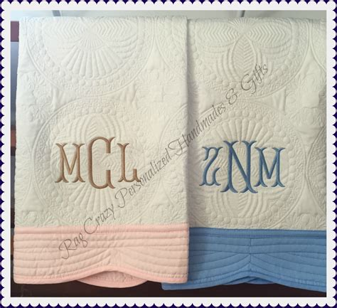 Monogrammed Baby Quilts by Monogrammed Baby Quilt Personalized Baby Quilt Baby Boy