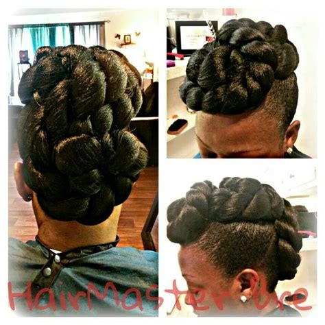 rope twist updo bun hairstyle elegant jumbo twist mohawk versatility of hair