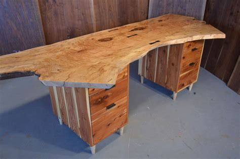 live edge computer desk live edge furniture dumond s custom furniture