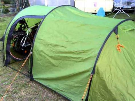 Tenda Vango preparazione viaggio in bici verso il nord europa vango equinox 350 bob yak trailer modificato
