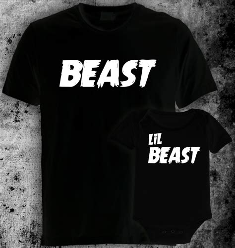 Tshirt Beast Hitam Dealdo Merch beast lil beast and tshirt sets costume t shirts